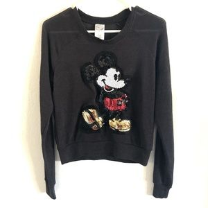 Disney XS Loose Knit Sequin Mickey Mouse Sweater